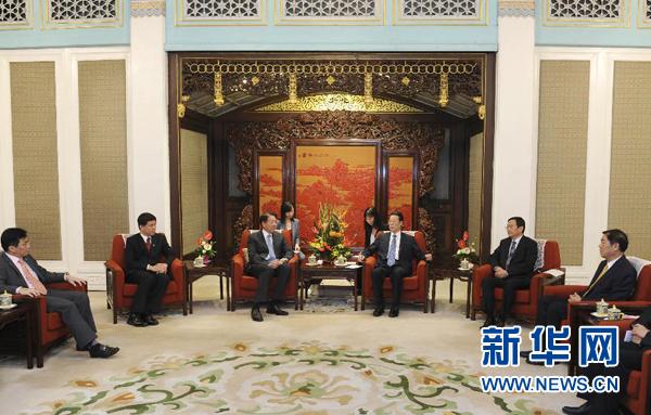 张高丽会见新加坡副总理张志贤