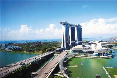 新加坡整洁美丽的现代化城市风貌.