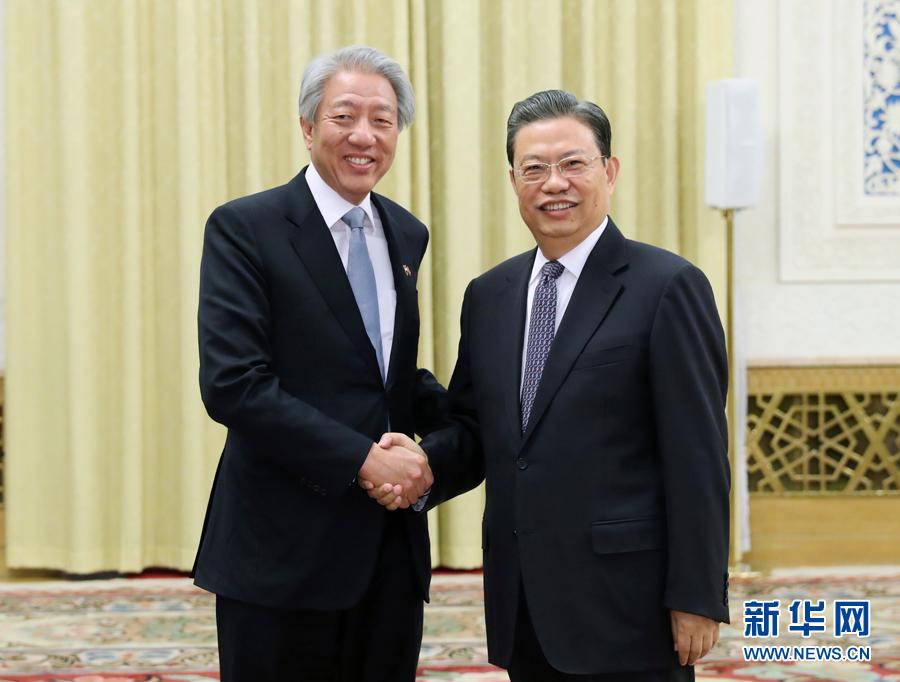 ... 中组部部长赵乐际在北京会见新加坡副总理张志贤