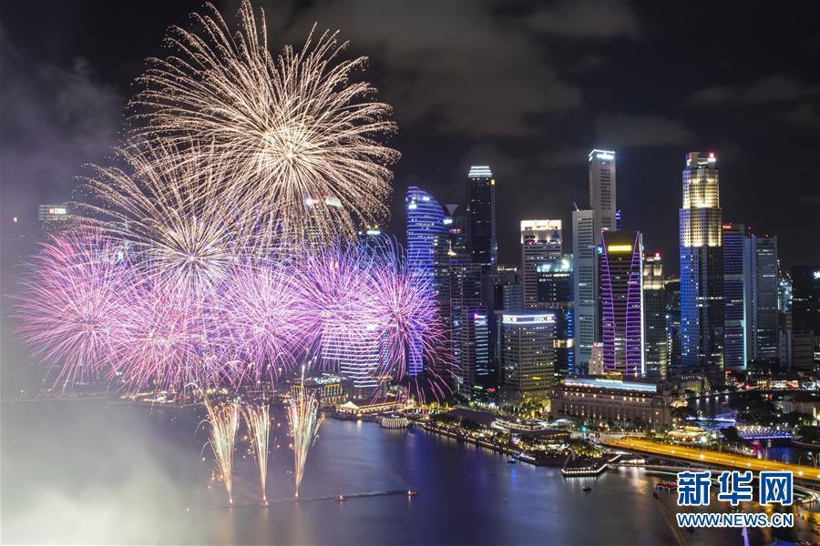 """(國際)(1)新加坡在濱海灣舉行""""新加坡濱海灣2020年倒數活動"""""""