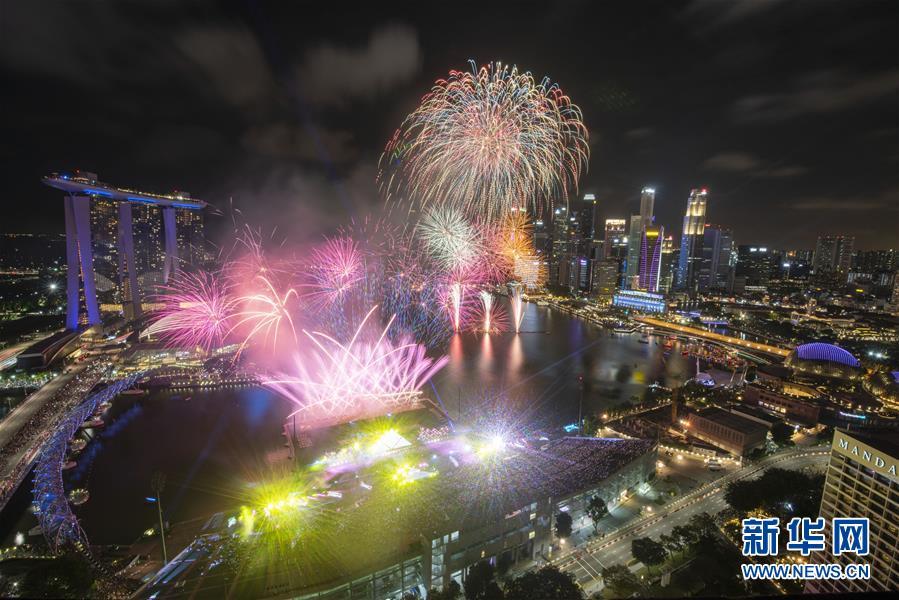 """(國際)(5)新加坡在濱海灣舉行""""新加坡濱海灣2020年倒數活動"""""""