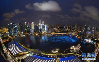 俯瞰新加坡跨年倒數派對