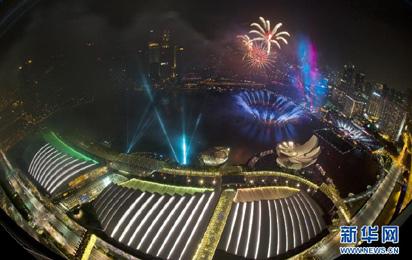 新加坡跨年煙火秀