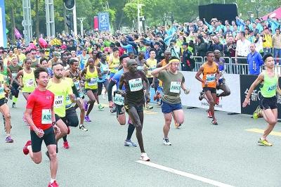 """""""一帶一路""""國際馬拉松係列賽打響第一槍"""