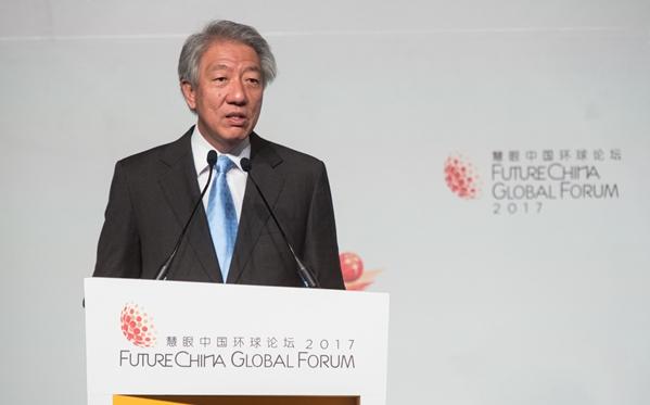 張志賢:新加坡將與中國擬定中國-新加坡自由貿易協定升級版