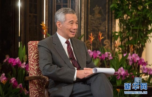 新華網專訪新加坡總理李顯龍(高清組圖)