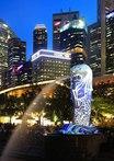 新加坡濱海灣舉行燈光秀 炫彩奪目