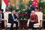 李克強會見新加坡總統哈莉瑪