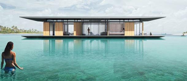 新加坡建築師的水上全景漂浮屋